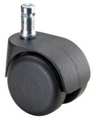 Bürostuhlrolle, Kunststoff, weiche Lauffläche, Einschlagstift 11x22 mm