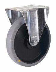 Bockrolle, 125 x 32 mm, grau, elektrisch leitfähig