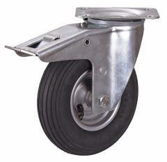 Bremsrolle mit Luftreifen, 200 x 50 mm, schwarz