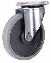 Lenkrolle, 125 x 32 mm, grau, (thermoplastisch)