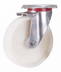 Lenkrolle Polyamid, 125 x 38 mm, weiß